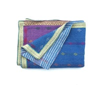 kantha quilt, kantha throw, coverlet, indian throw, bedspread