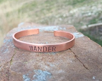 Custom Copper Cuff Bracelet