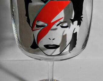 David Bowie Wine Glass