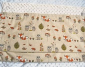 Woodland Blanket, PERSONALIZED Baby Blanket, Woodland Minky, Woodland Nursery, Crib Blanket, Baby Newborn Gift, Baby Shower Gift, 3 Sizes