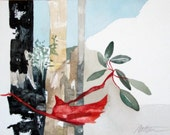 """SALE  Southwest Series  """" Arizona Madrone Amidst The Fire Blackened Forest""""  Original, One of a Kind Watercolor"""