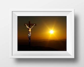 Art Print, Jesus on the Cross, Jesus Art, Digital Art, 8x10 Prints, Jesus Christ, Religious Art Prints, Religious Art, Christianity Art