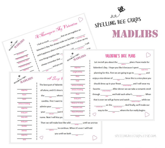 valentine's day sexy funny printable madlibs download., Ideas
