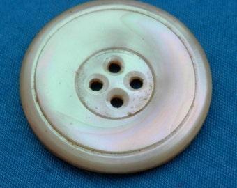 STUNNING LG Shell Antique Iridescent Button