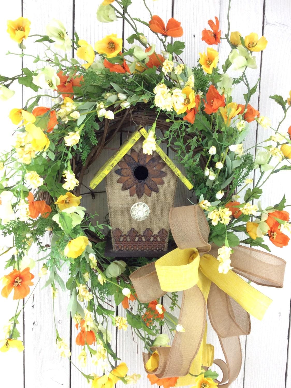 Summer Front Door Wreath: Summer Wreath Outdoor Door Wreaths Front Door Wreaths