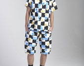 SALE- Checkered floral tee