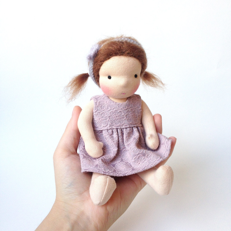 Small waldorf doll steiner doll handmade cloth doll - Material waldorf ...