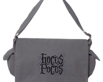 Tricks & Treats - Hocus Pocus Embroidered Canvas Cotton Messenger Bag