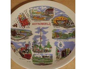 VINTAGE 1968 ASTROWORLD  COMMEMORATIVE Plate. Homer Laughlin