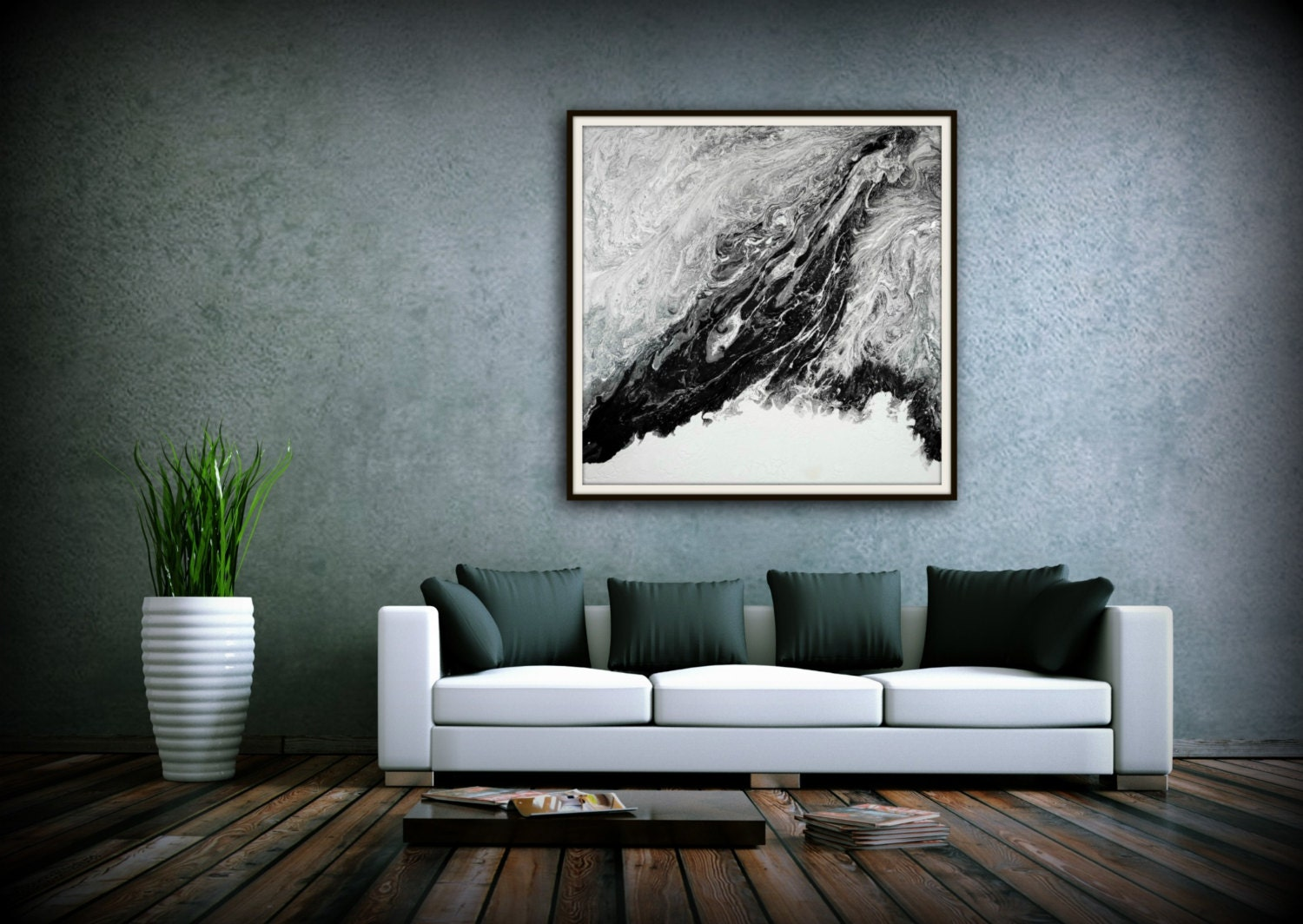 Extra Large Abstract Painting Print Abstract Canvas Print ...