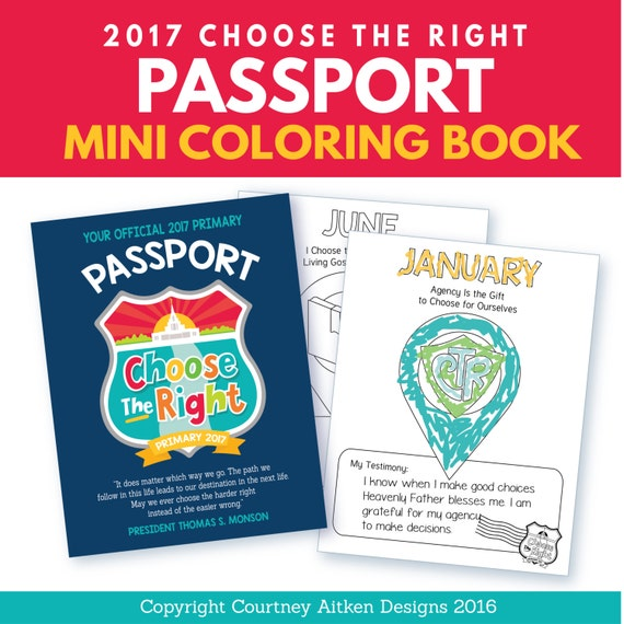 2017 Choose the Right Passport Mini Coloring Book