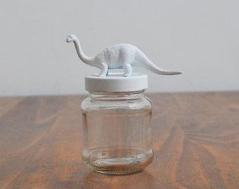 Dino glass jar