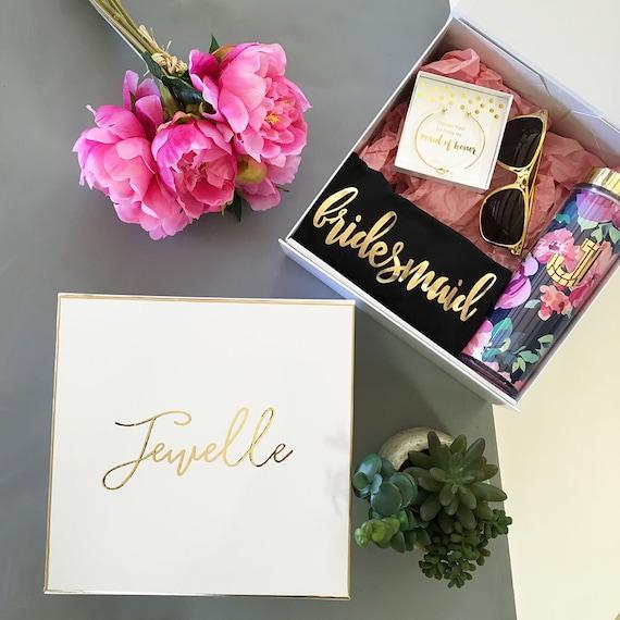 Bridesmaid Gift Box Bridesmaid Boxes Personalized Gift Box Bridesmaid ...