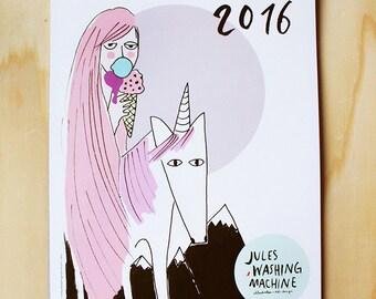 2016 calendar, wall calendar, A4 / illustrations