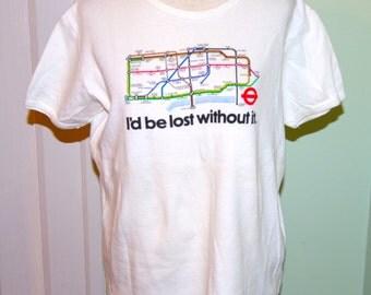 London subway map T shirt sz- small
