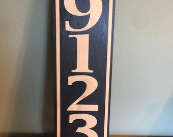 Vertical House Number Sign