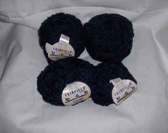 Lot of 7 balls of cotton yarn, dark navy