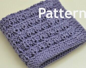 Washcloth / Dishcloth Knitting PATTERN - Garden Rows