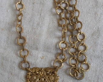 former necklace vintage very nice brass mesh