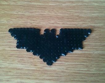 Dark Knight Batman Logo made with perler