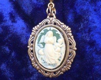 My Little Angel Cameo Pendant Necklace
