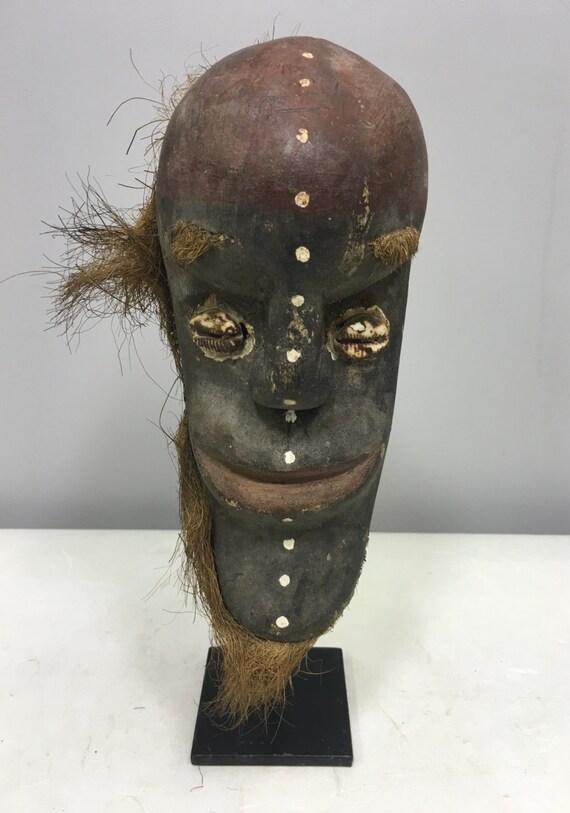 Papu New Guinea Mask Tago Tami Islands Wood Ancestor Ghost Ceremonial Mask