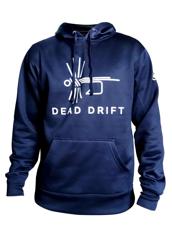 Dead drift fly fishing hoodie sweatshirt for Fly fishing hoodie