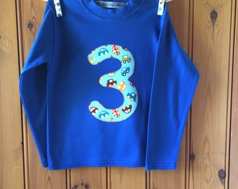 Baby boy first birthday outfit * boys birthday t shirt * 1st birthday * age tshirt * personalised T shirt * long sleeves * Yew Tree Stitches