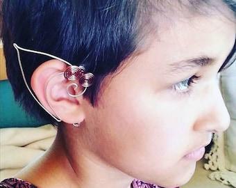 Celtic Spiral Elf Ear Cuffs Pair Unisex Elf Ears