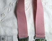Pewter Rose Bookmark Hand Painted Grosgrain Ribbon 10 Inch Book Mark