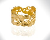 Bridal Wedding Jewelry,  Art Nouveau Band, Unisex Wedding Band, His and Hers Wedding Band, Wedding Band Gold,  Unique Band, Free Shipping