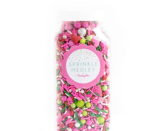 16oz (2 cups) STRAWBERRY SOCIAL Sprinkle Medley, Valentine's Sprinkles, Red and Pink Sprinkles, Shortcake
