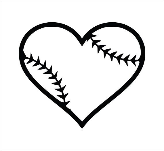 Case Design phone case decals : Baseball Heart Decal, Softball Heart Decal, Laptop Decals, Softball ...