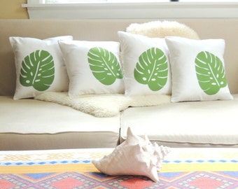 Tropical Leaf Pillow Cover - West Indies Chic