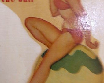 Vintage Pin Up-Girl Decal  1950s Collectibles ( Glamour Girl Series )