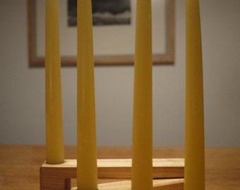 Wodden Candle Holder. Wooden candlesticks .Folding candle Holder. Wooden Centerpiece. Candelabrum.Home Decor.Gift Mom . Gift for Her