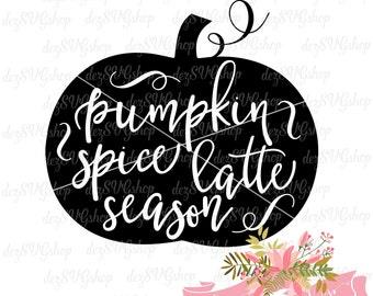 SVG Pumpkin Spice Latte Season | Cut File | DXF file | Pumpkin svg file | cut file for Cricut and Silhouette