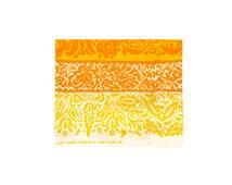 "60s Marimekko Tablecloth -- Vintage Marimekko Fabric -- Orange and Yellow -- Ataman by Maija Isola -- Suomi Finland 1960 -- 34"" x 50"""