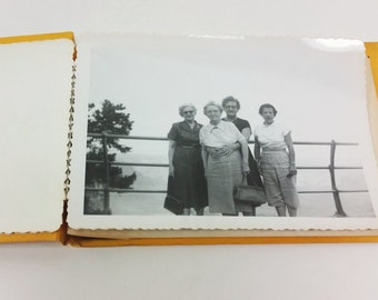 Family Trip Photograph Album with Mom and the Girls - 1960s Black and White Photos and Negatives