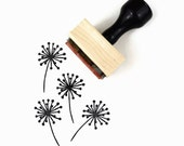 Dandelion Stamp - Summertime Hand Drawn Rubber Stamp - Sunny Summer Stamps by Creatiate