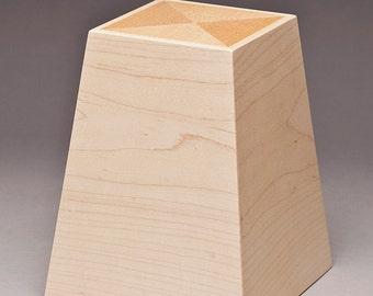 Cremation urn - Maple Obelisk urn