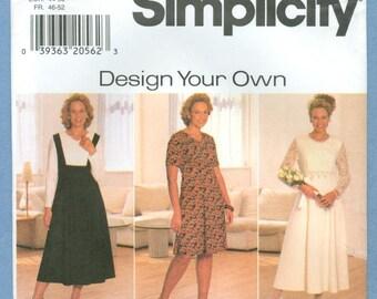 1997 Women's Petite Dress Size 18W-24W - Vintage Simplicity Sewing Pattern 7733