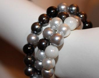 Gray Beaded Jewelry, Gray Beaded Bracelet, Bracelet Gray Pearl, Jewelry Gray Pearl, Gray Pearl Jewelry, Gray Pearl Bracelet, Gray Bracelet