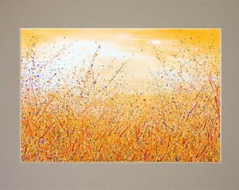 Yellow Abstract painting Landscape painting Wall art Pittura astratta Abstract landscape art Abstract artwork Wall art Abstract art Fine art
