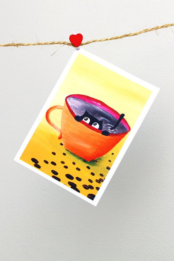 postkarte lustige geburtstagskarte f r ihn lustig von artbyasta. Black Bedroom Furniture Sets. Home Design Ideas