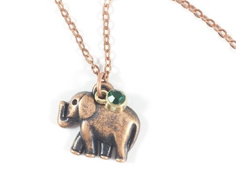 Elephant Necklace Elephant Pendant Necklace Elephant Jewelry Animal Spirit Animal Jewelry Elephant Gifts Best Friend Jewelry For Her Gifts