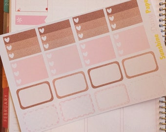Rose Gold and Pink Collection Erin Condren Half box planner stickers!