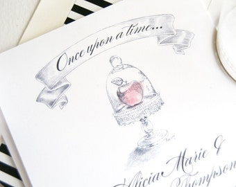 Snow White, Disney Fairytale Wedding,  Invitation, Quinceañera Package (Sold in Sets of 10 Invitations, RSVP Cards + Envelopes)