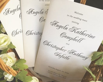 Wedding Programs - 4.25 x 11