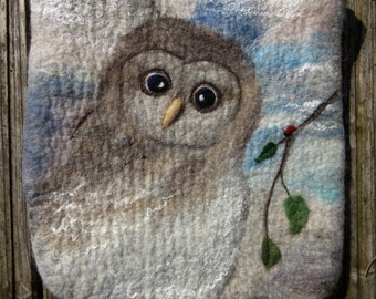 SALE:Discount 20%  Bag.Owl Handbag. Owl Bag,Felt Tote OWL Bag, Tote Bag, Shoulder Bag, Hand Made,owl felt bag, Crotchet Bag,